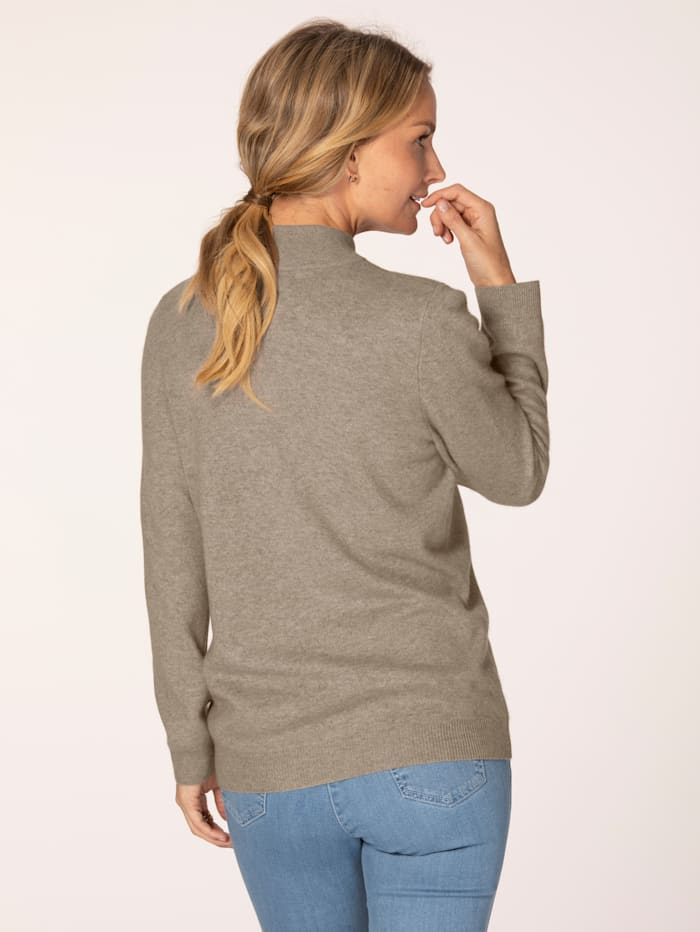 Cashmere jumper with a stand collar