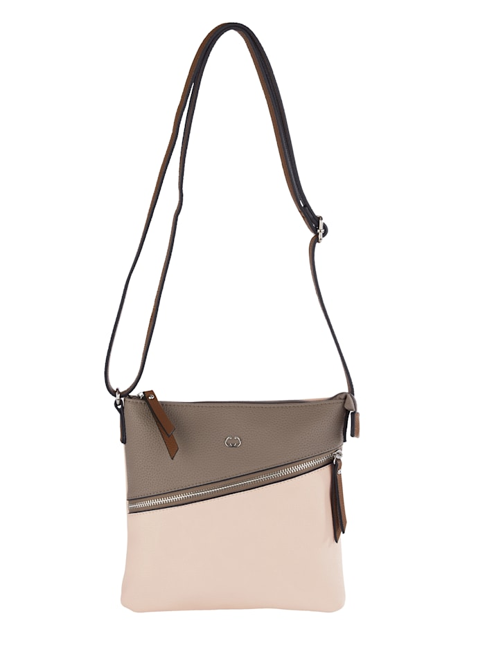 Gerry Weber Shoulder bag made from a soft, premium fabric, Taupe/Beige