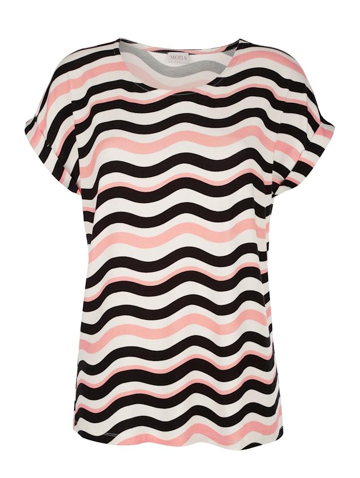 T-shirt à imprimé ondulé