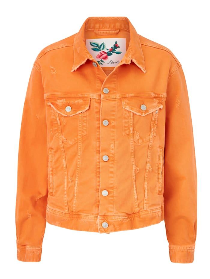 REPLAY Jeansjacke, Orange