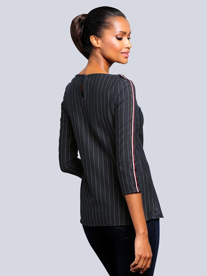 Tričko s ihličkovým prúžkovaným vzorom