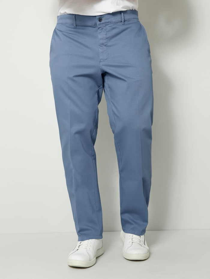 Men Plus Chino Straight-Fit, Blau