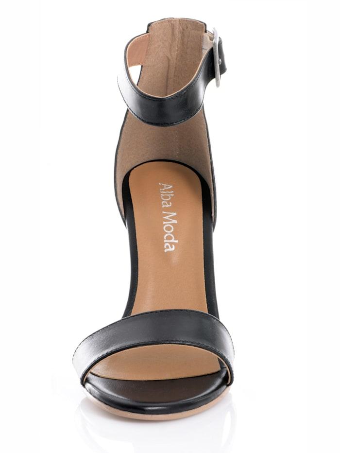 Sandalette aus Ziegennappaleder