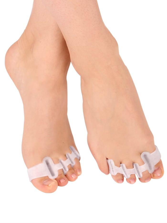 Vital Comfort Écarteurs d'orteils Lot de 2, Blanc