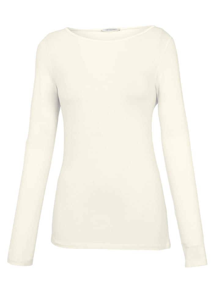 Boat neck top made of fine jersey