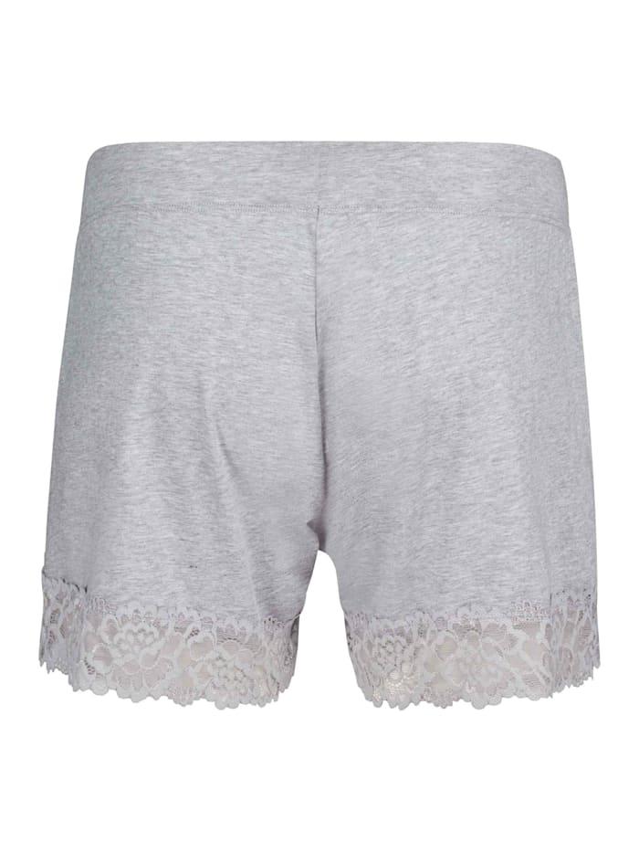 Shorts mit Spitzen-Saum