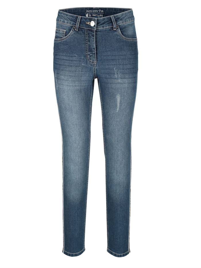 Jeans Laura Extra Slim mit Galonstreifen