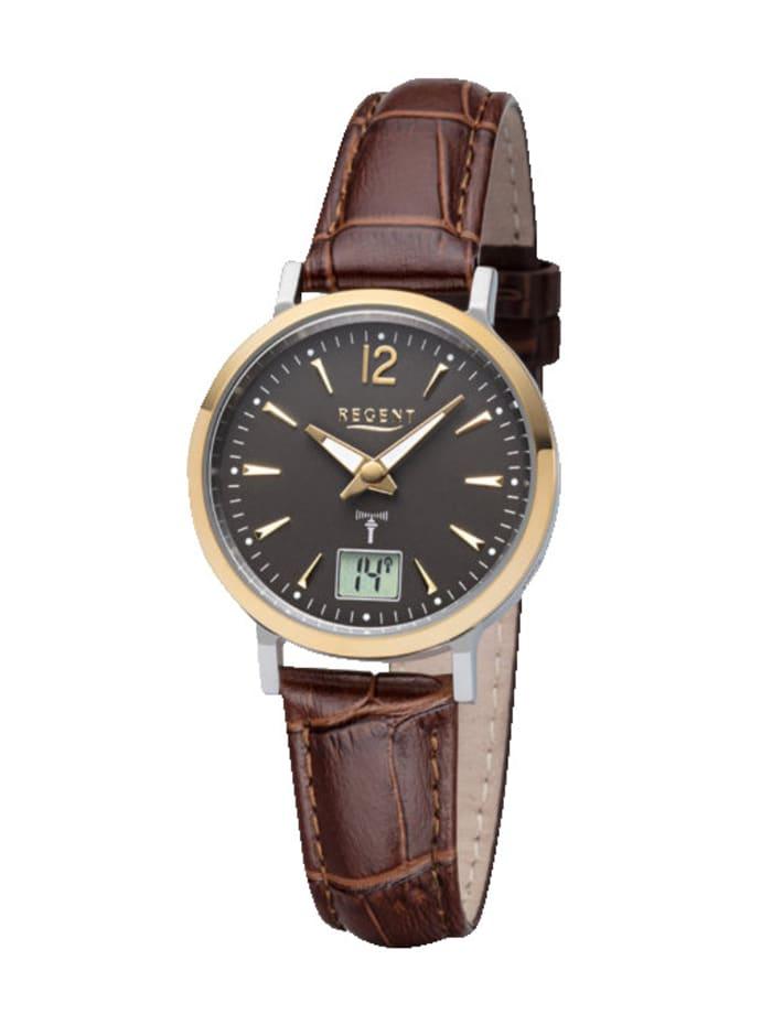 Regent Damen-Funk-Uhr 12030092, Braun