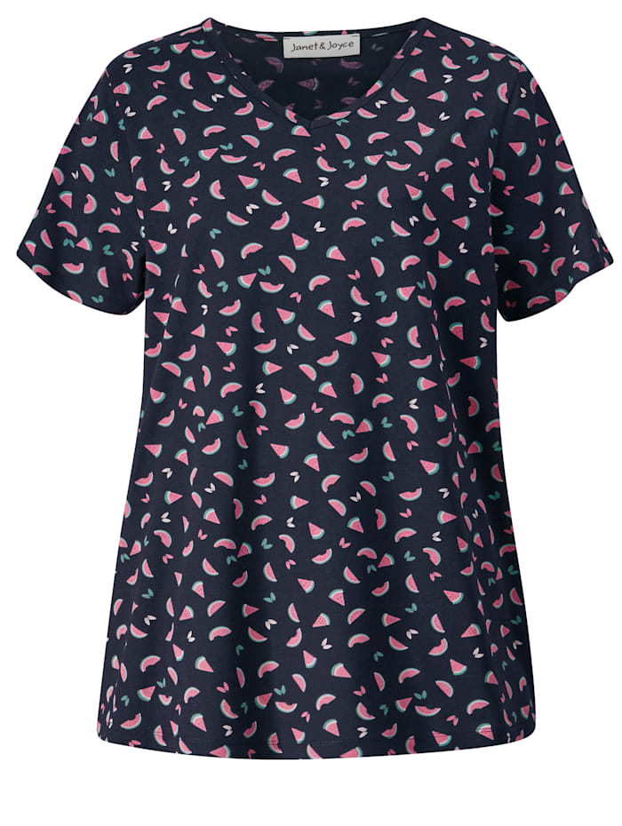 Shirt met meloenenprint