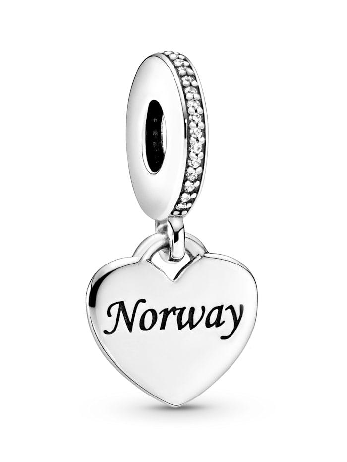 Pandora Charm-Anhänger -Herz- Norwegen - 792017CZ E009, Silberfarben