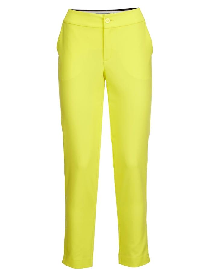 AMY VERMONT Hose mit eingesetztem Gummibund im Streifendessin, Gelb