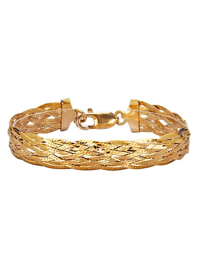 Golden Style Visgraatarmband, Geelgoudkleur