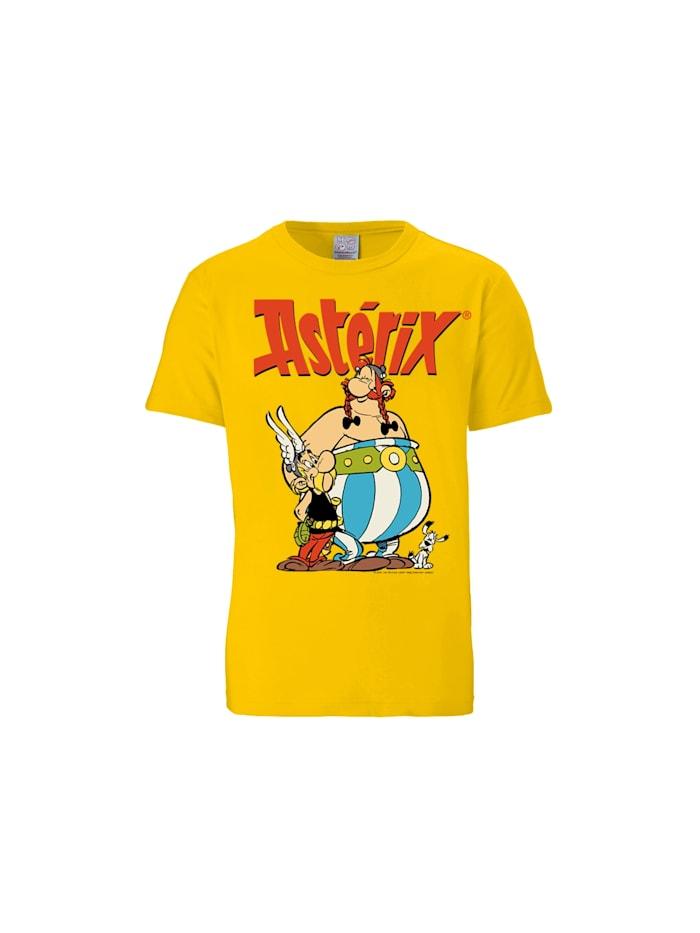 Logoshirt T-Shirt Asterix & Obelix mit Asterix & Obelix-Print, gelb