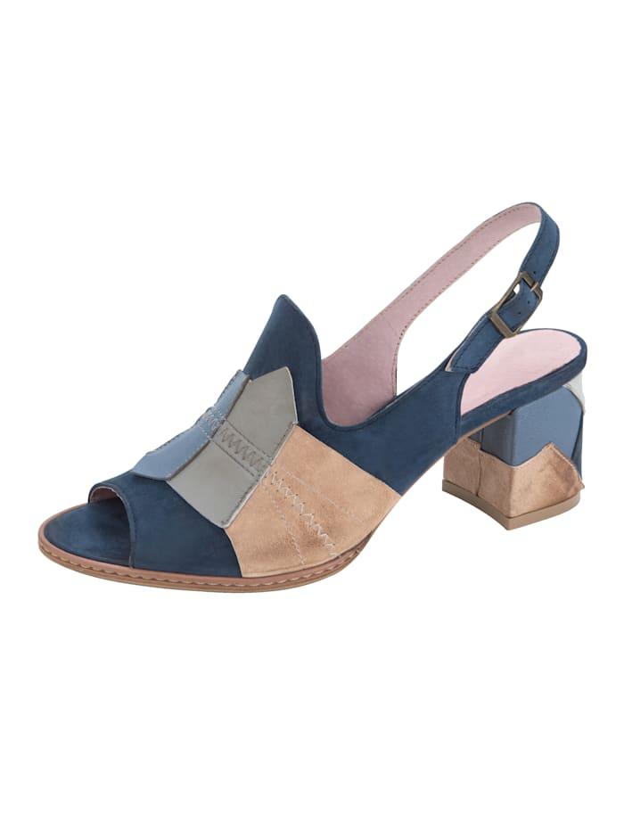 Sandale mit variabel verstellbarem Fersenriemchen