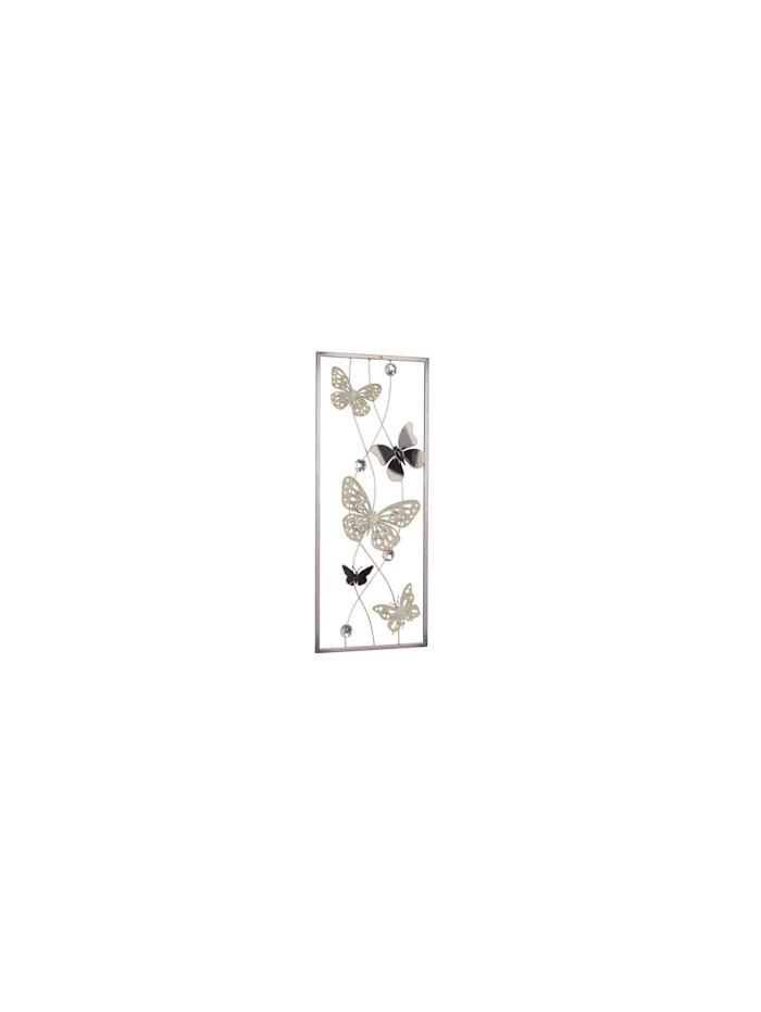 """Möbel-Direkt-Online Wanddekoration """"Schmetterlinge"""", silber, gold, und anthrazitfarben lackiert"""