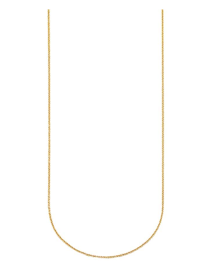 Diemer Gold Zopfkette in Gelbgold, Gelbgoldfarben