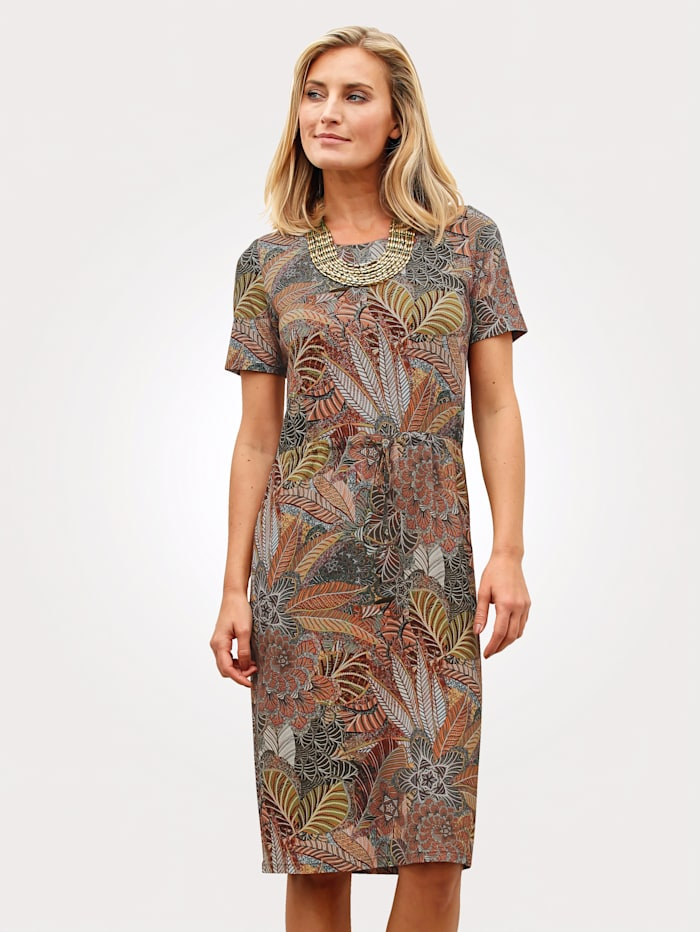 Jersey dress with a stunning floral print