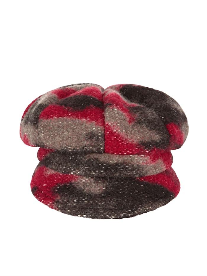 MONA Cap, Brown/Red