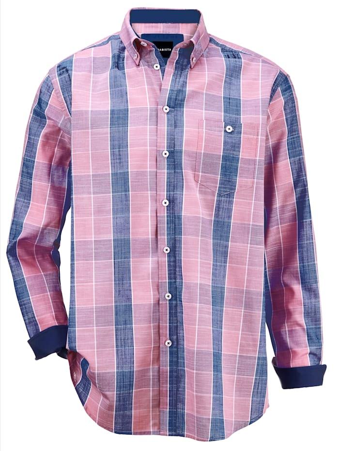 BABISTA Overhemd van zuiver katoen, Roze/Blauw