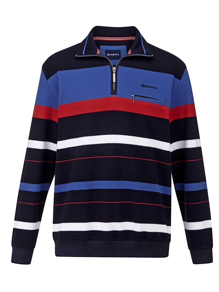 BABISTA Sweat-shirt en maille piquée, Marine/Bleu roi