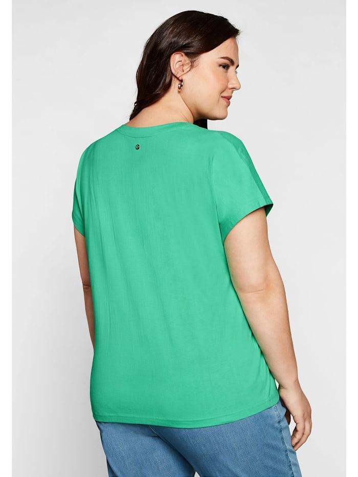 T-Shirt mit aufwendiger Stickerei