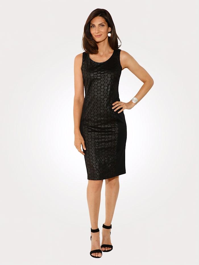 MONA Kleid aus Lederimitat, Schwarz