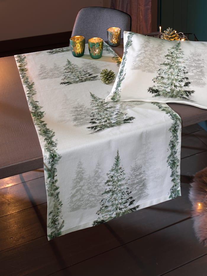 Apelt Tischläufer 'Tannenbaum', natur grrün