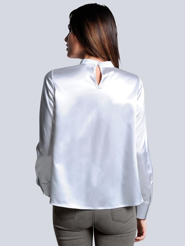 Bluse in leicht glänzender Ware