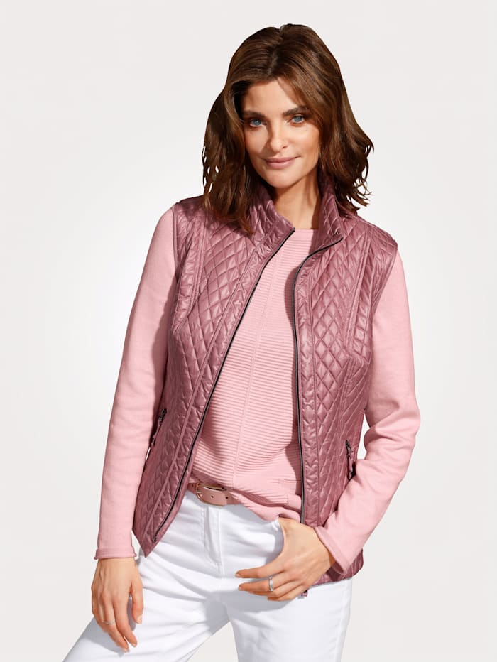 MONA Quilted gilet, Rose