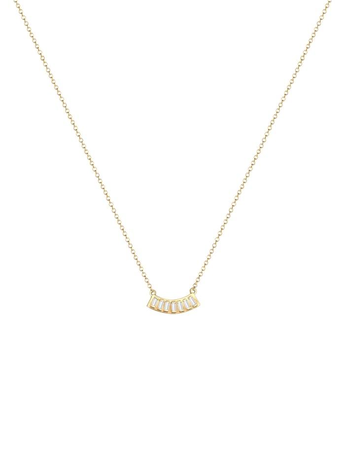 Halskette Layer Rechteck Geo Topas Edelstein 925Er Silber