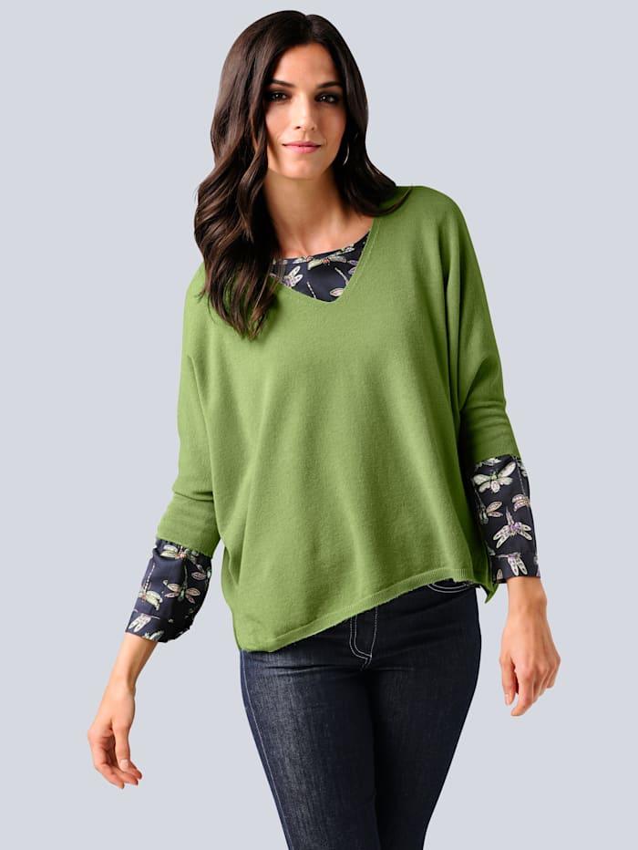 Alba Moda Trui in oversized model, Groen