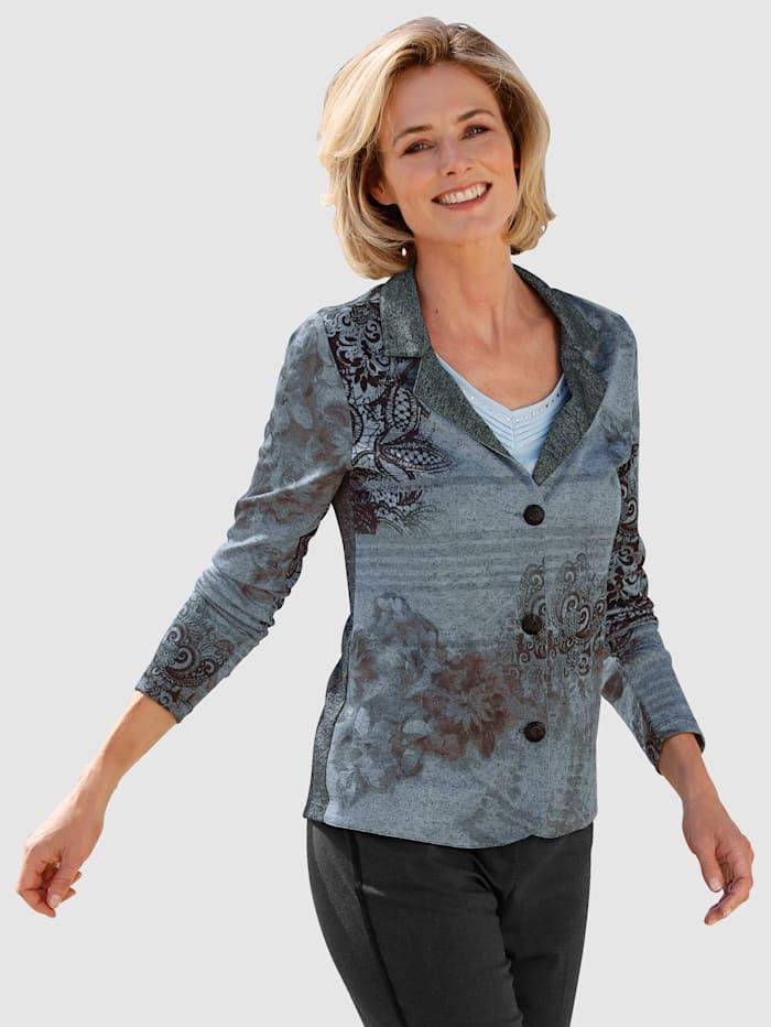 Jerseykavaj med tryckt mönster