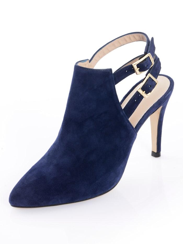 Alba Moda Stiefelette mit zwei Knöchelriemchen, Marineblau