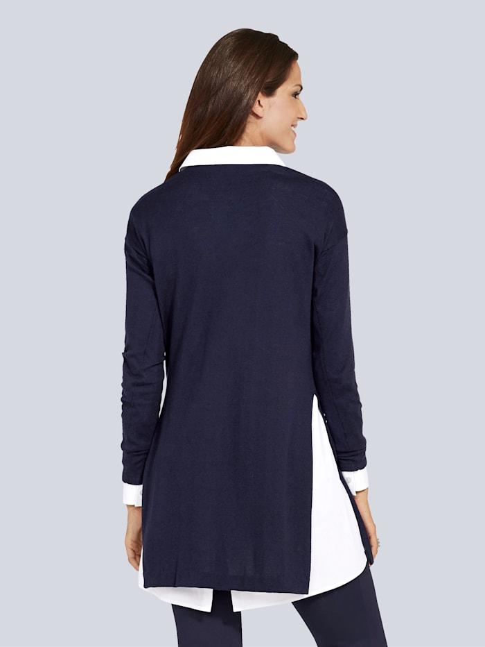 Pullover mit hohem Seitenschlitz