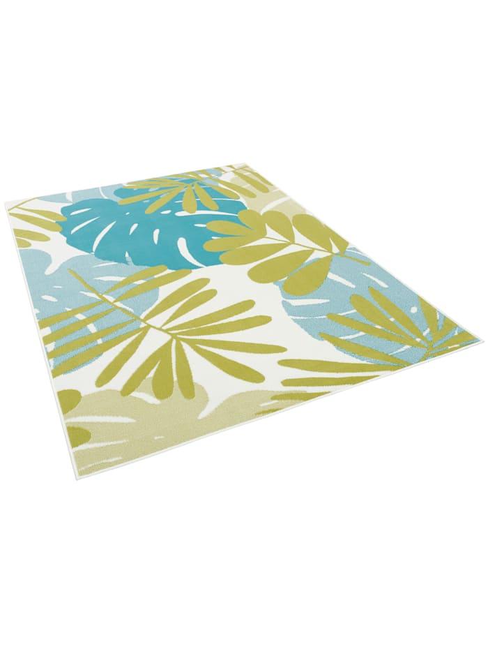 Pergamon Designer Teppich Samba Blätter, Grün