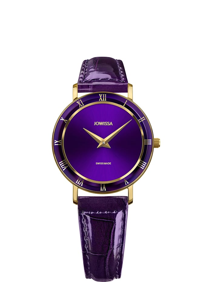 Jowissa Quarzuhr Roma Swiss Ladies Watch, violett