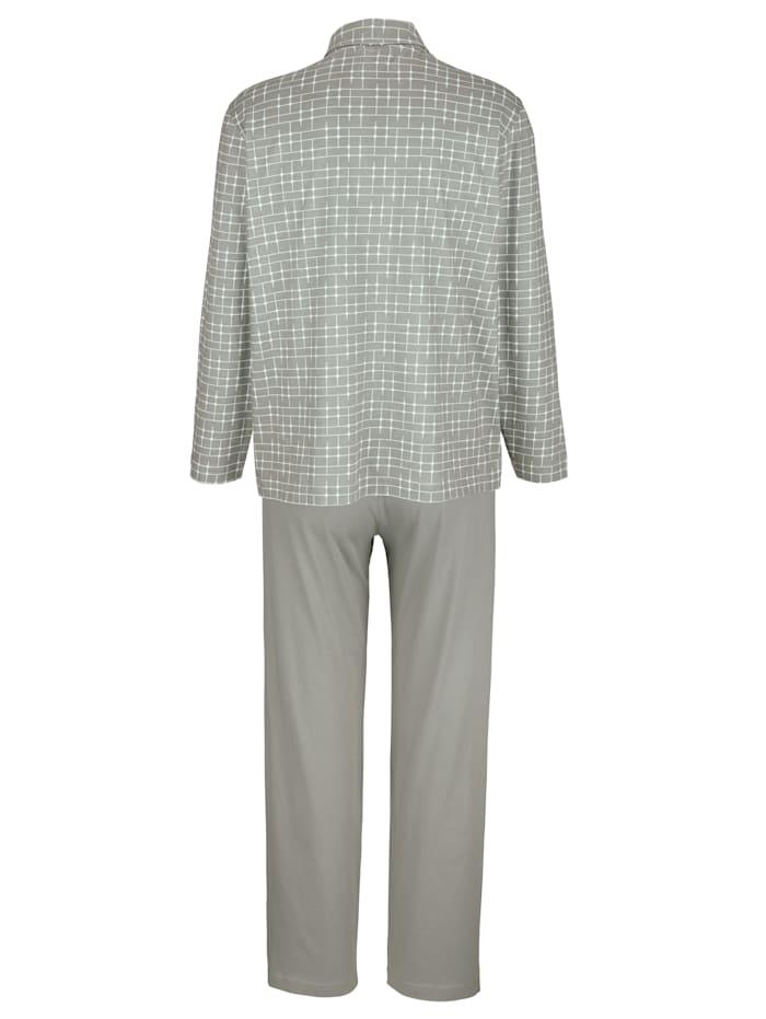 Pyjamas avec col chemise classique