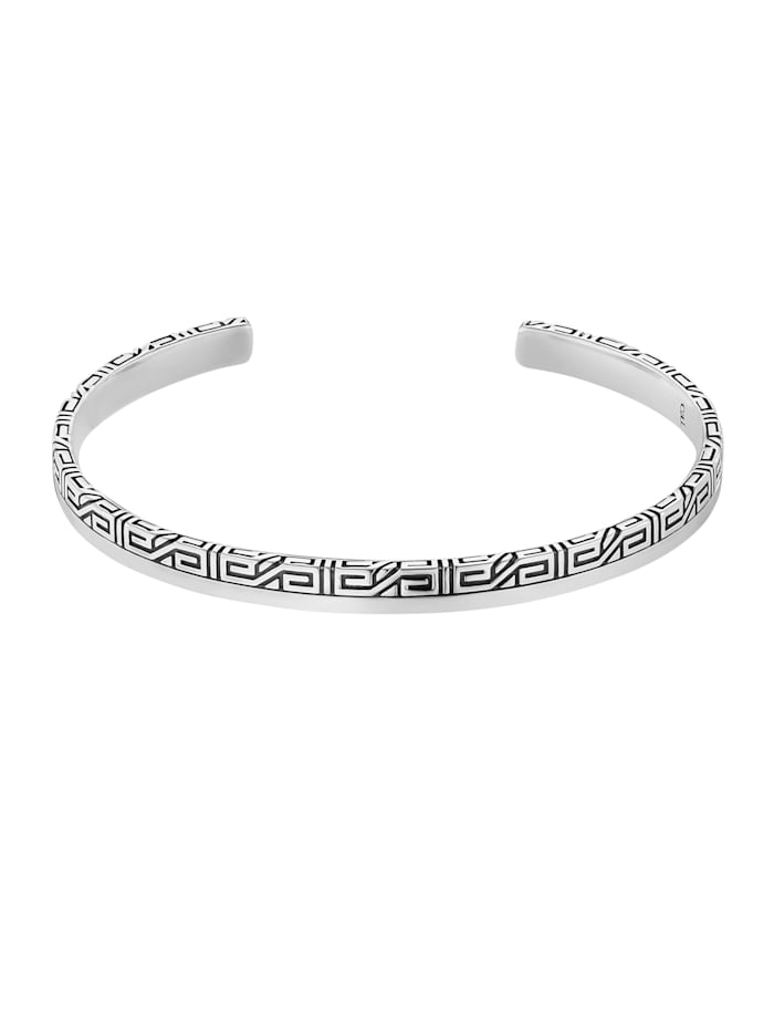 Armreif 925/- Sterling Silber ohne Stein Matt/Glanz