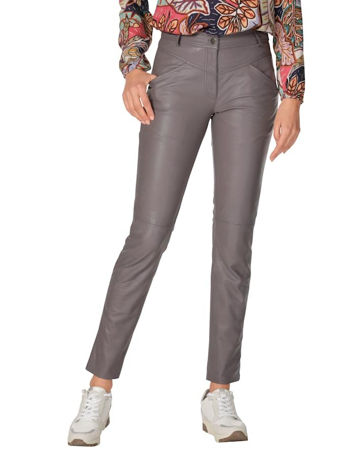AMY VERMONT Leren broek in een modieuze kleur, Lila