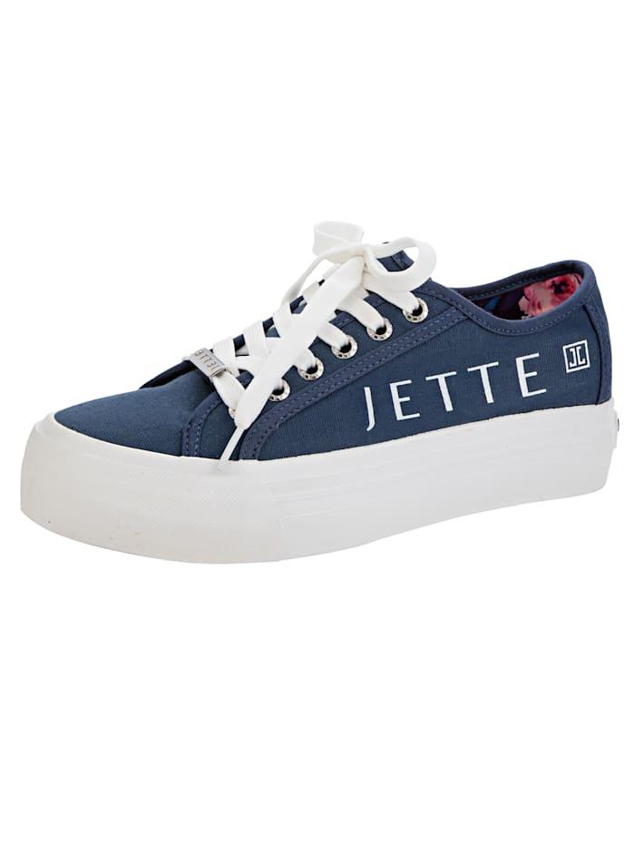 Sneaker met JETTE-opschrift