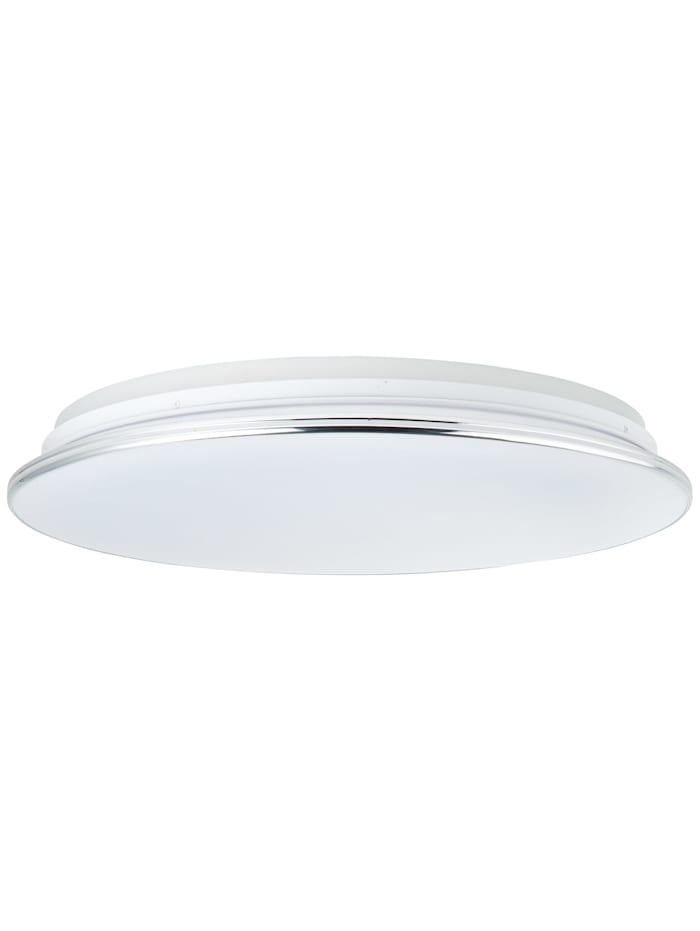 Edna LED Deckenleuchte 50cm weiß/chrom