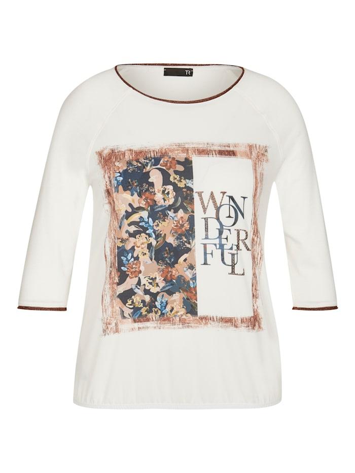 Thomas Rabe Shirt mit Front-Print und Wording, Natur