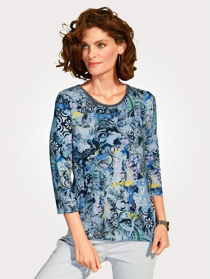 Rabe Shirt van jersey, Blauw/Groen/Geel