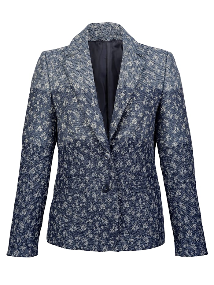 Jacket with floral jacquard detailing