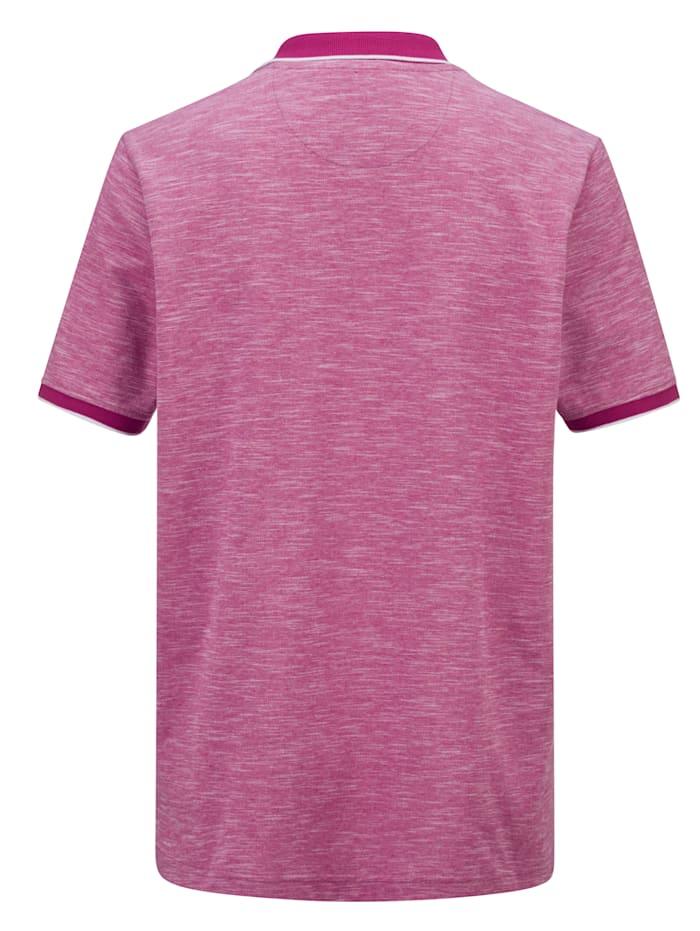 Poloshirt mit Melange-Effekt