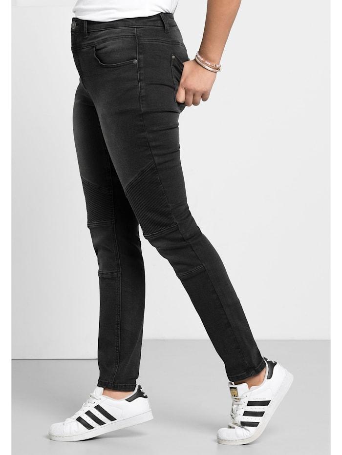 Sheego Jeans Power-Stretch-Qualität, black Denim