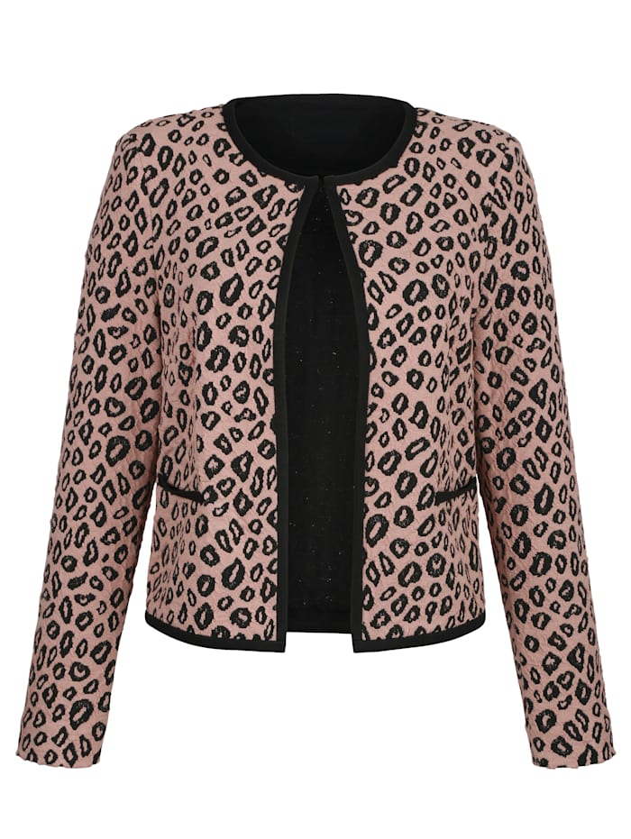 Jersey blazer made from cloqué jacquard