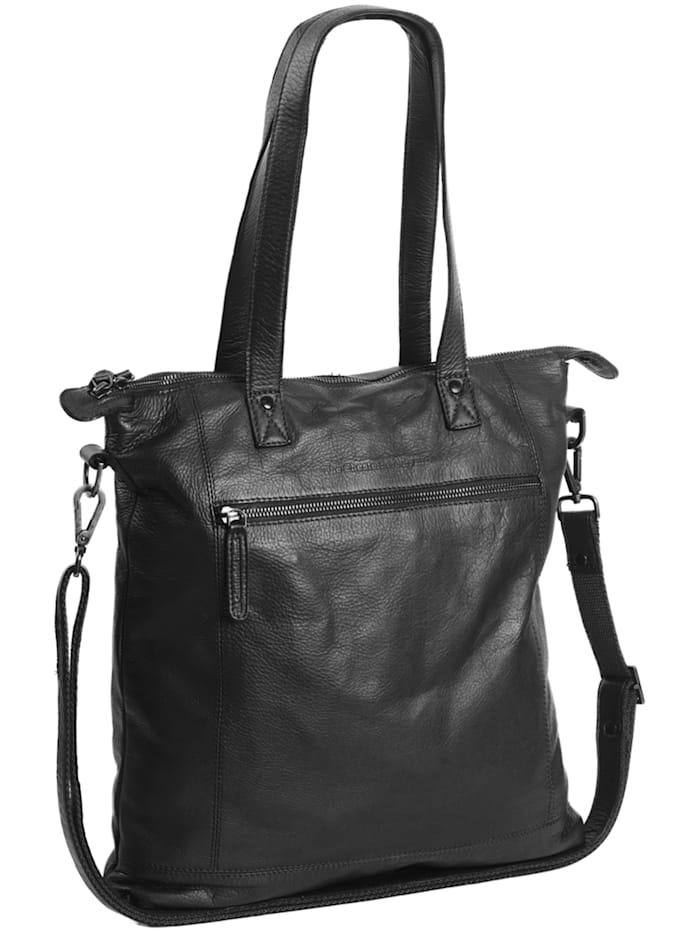 The Chesterfield Brand Black Label Adeline Schultertasche Leder 33 cm Laptopfach, schwarz