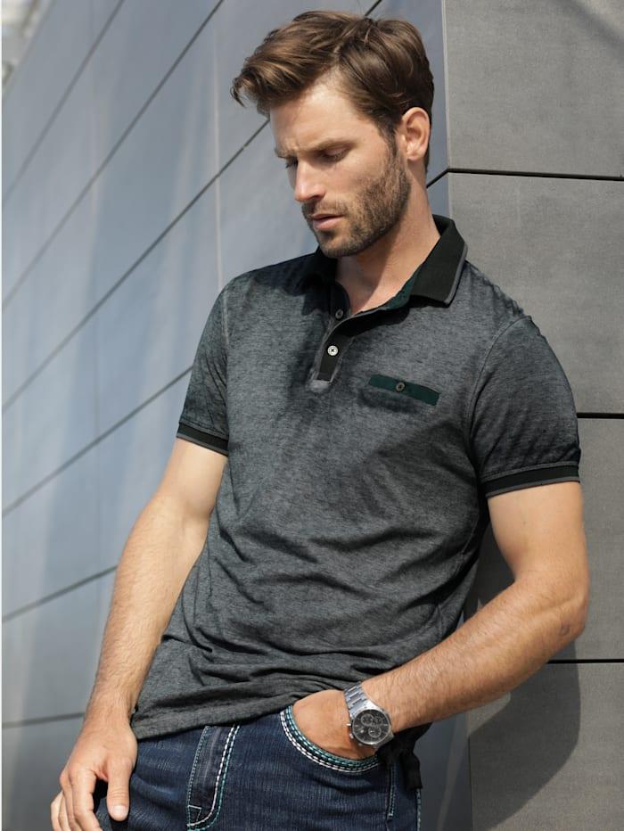 BABISTA Poloshirt im Used-Look, Anthrazit