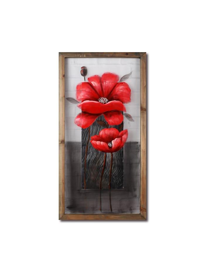 NTK-Collection Wandbild Mohnblume, Bunt